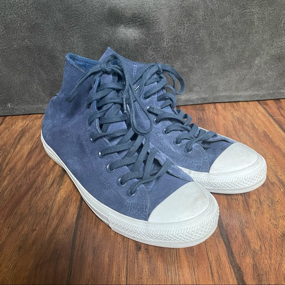 Blue Chuck Taylor Water Resistant Suede High Top